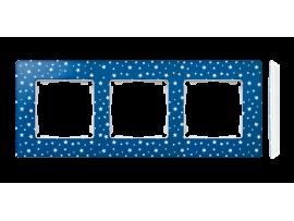 Rámček 3- násobný biela indigo