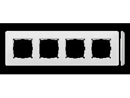 Rámček 4- násobný biela