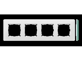 Rámček 4- násobný akvamarín biela