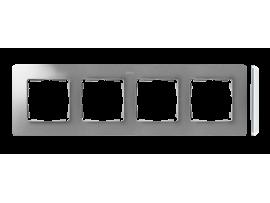 Rámček 4- násobný hliník biela
