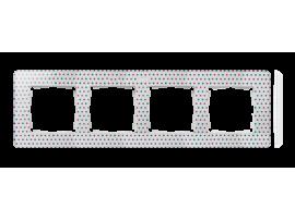 Rámček 4- násobný biela viacfarebný