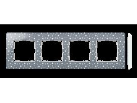 Rámček 4- násobný biela studená šedá