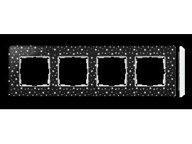 Rámček 4- násobný biela čierny