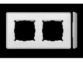 Rámček 2- násobný hliník biela