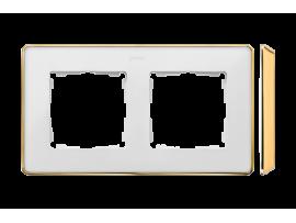 Rámček 2- násobný biela zlatá