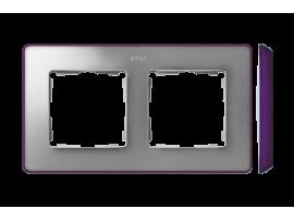 Rámček 2- násobný studený hliník fialová