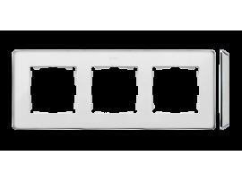 Rámček 3- násobný biela chróm