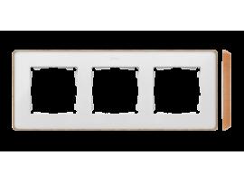 Rámček 3- násobný biela drevo