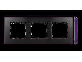 Rámček 3- násobný fialová grafit
