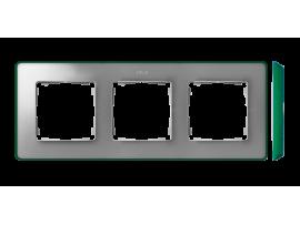 Rámček 3- násobný studený hliník zelený