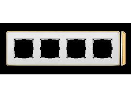 Rámček 4- násobný biela zlatá