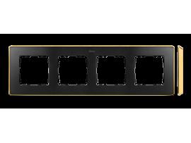 Rámček 4- násobný grafit zlatá