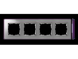 Rámček 4- násobný studený hliník fialová