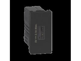 Nabíjačka USB K45 USB 2.0 - A 5V DC 2,1A 45×22,5mm grafit