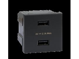 Nabíjačka USB K45 USB 2.0 - A 5V DC 2,1A 45×45mm grafit