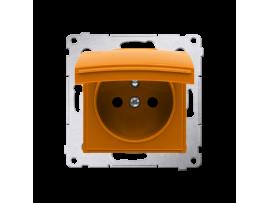 Kryt zásuvky s uzemnením - pre verziu IP44 - klapka vo farbe krytu oranžový