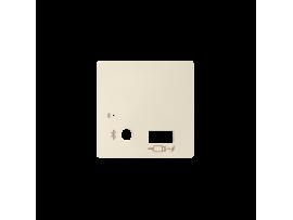 Kryt pre prijímač Bluetooth a USB nabíjačku krémová