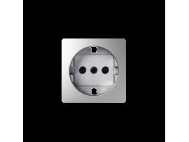 Kryt jednoduchej zásuvky s uzemnením typu Schuko hliník
