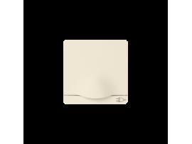 Kryt jednoduchej zásuvky s uzemnením typu Schuko béžový