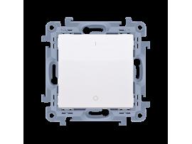 Dvojpólový spínač, radenie č. 2S biela 10AX