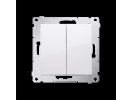 Sériový spínač s krytím IP44, radenie č. 5 (prístroj s krytom) 10AX 250V, pružinové svorky, biela