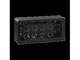 Krabica pre povrchovú montáž 3- násobná grafit