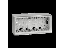 Krabica pre povrchovú montáž 3- násobná hliník