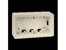 Krabica pre povrchovú montáž 2- násobná krémová