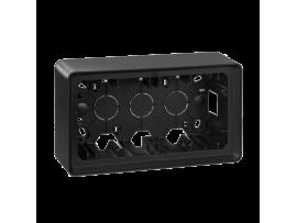Krabica pre povrchovú montáž 2- násobná grafit
