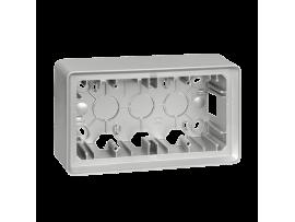 Krabica pre povrchovú montáž 2- násobná hliník