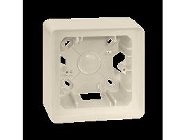 Krabica pre povrchovú montáž 1- násobná krémová