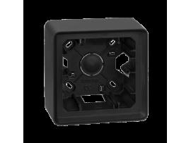 Krabica pre povrchovú montáž 1- násobná grafit