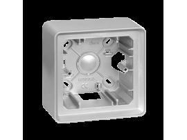 Krabica pre povrchovú montáž 1- násobná hliník
