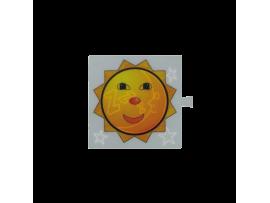 Filter pre bielý svetelný kláves - piktogram Slnko / Mesiac