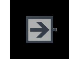 Filter pre bielý svetelný kláves - piktogram Smerová šípka