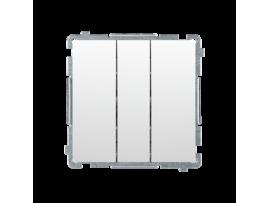 Trojité tlačítko s podsvietením nevymeniteľný LED farba: modrá (prístroj s krytom) 10AX 250V, pružinové svorky, biela