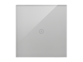 Dotykový panel 1 modul 1 dotykové pole, búrková/striebro