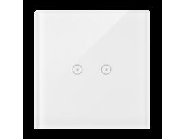 Dotykový panel 1 modul 2 horizontálne dotykové polia, perlová/biela