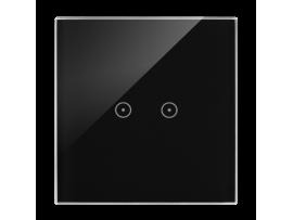 Dotykový panel 1 modul 2 horizontálne dotykové polia, lávová/antracit