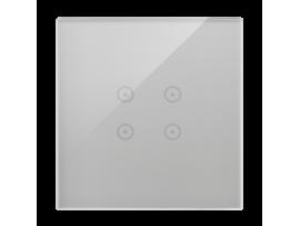 Dotykový panel 1 modul 4 dotykové polia, búrková/striebro
