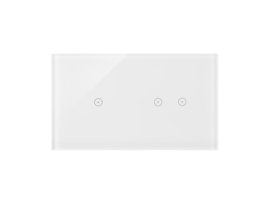 Dotykový panel 2 moduly 1 dotykové pole, 2 horizontálne dotykové polia, perlová/biela