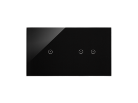 Dotykový panel 2 moduly 1 dotykové pole, 2 horizontálne dotykové polia, lávová/antracit