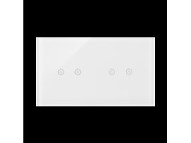 Dotykový panel 2 moduly 2 horizontálne dotykové polia, 2 horizontálne dotykové polia, perlová/biela