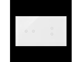 Dotykový panel 2 moduly 2 horizontálne dotykové polia, 2 vertikálne dotykové polia, perlová/biela