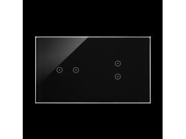 Dotykový panel 2 moduly 2 horizontálne dotykové polia, 2 vertikálne dotykové polia, lávová/antracit