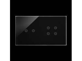 Dotykový panel 2 moduly 2 horizontálne dotykové polia, 4 dotykové polia, lávová/antracit