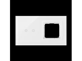 Dotykový panel 2 moduly 2 horizontálne dotykové polia, otvor pre príslušenstvo Simon 54, perlová/biela