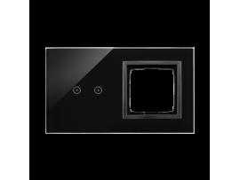 Dotykový panel 2 moduly 2 horizontálne dotykové polia, otvor pre príslušenstvo Simon 54, lávová/antracit