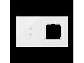Dotykový panel 2 moduly 2 vertikálne dotykové polia, otvor pre príslušenstvo Simon 54, perlová/biela
