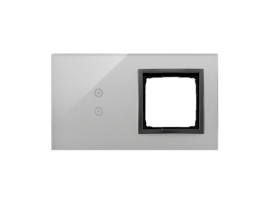 Dotykový panel 2 moduly 2 vertikálne dotykové polia, otvor pre príslušenstvo Simon 54, Búrková/antracit